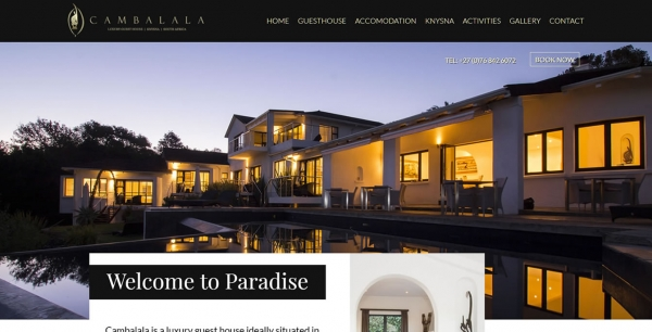 Luxury Guesthouse Website